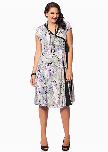 #Eplisse Chinoiserie Dress #plussize #curvy