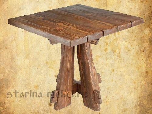 Оригинальные #деревянные #столы под старину. #мебель