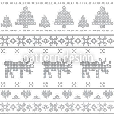Norwegian Grey created by Martina Stadler offered as a vector file on patterndesigns.com