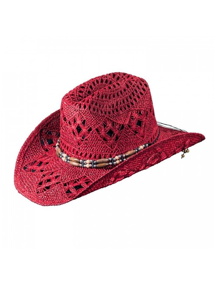 Western Fashion Hat for Women by (Cowboy Hat) - Red - C7126IWS4QH - Hats    Caps f03e38f3659