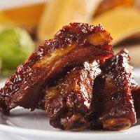 Découvrez la recette Travers de porc à l'américaine sur cuisineactuelle.fr.