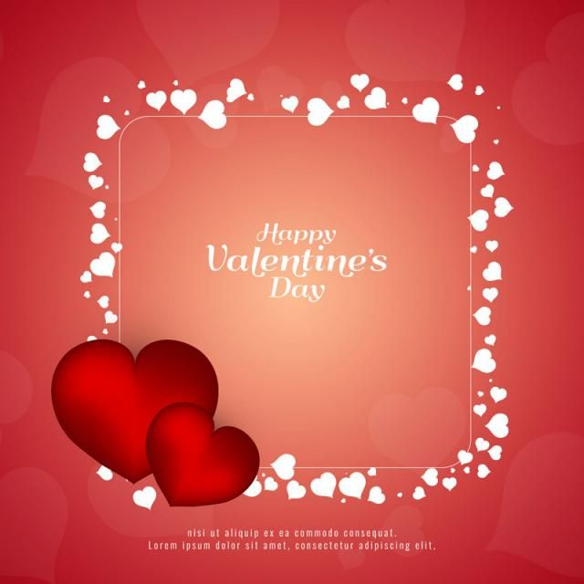 Abstract Happy Valentines Day Background Abstract Background