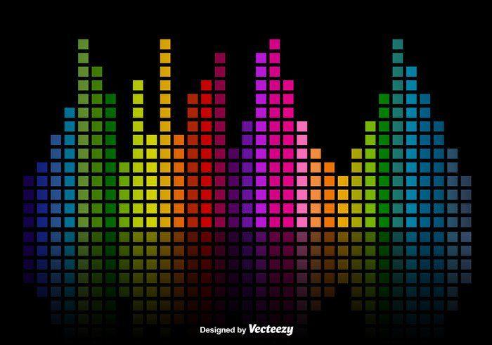 Colorful Music Sound Bars Equalizer Vector Background Weaveform Wave Volume Vol Voice Technology Stereo Soundwave Equalizer Background Design Vector Background