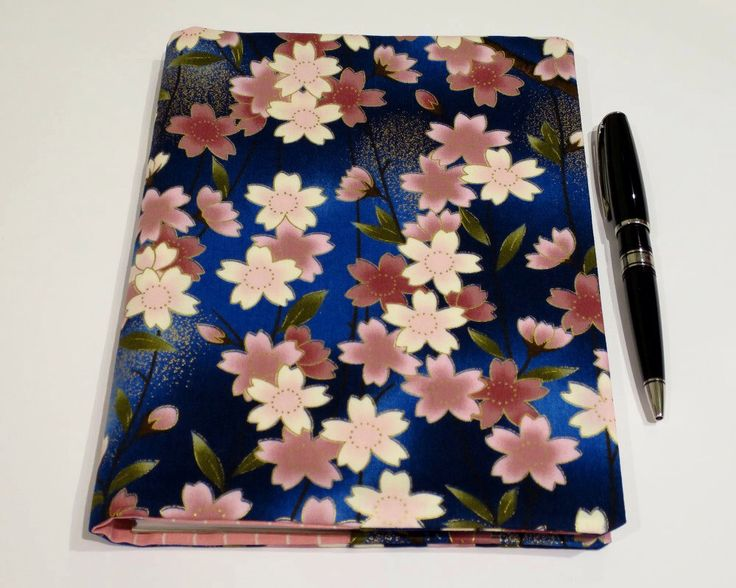 Fabric Book Cover, Suits A5 Notebook, Bonus Notebook Included, Blue & Pink Floral Cotton Fabric, Pretty Feminine Journal, Gift for Women by JadoreBooks on Etsy https://www.etsy.com/listing/260356499/fabric-book-cover-suits-a5-notebook
