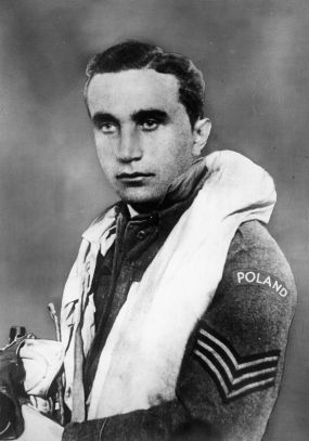 Portrait of Sergeant Josef Frantisek, the Czech fighter ace who served with No. 303 Fighter Squadron and was the highest scoring pilot of the Battle of Britain. He is credited with 17 confirmed kills and 1 probable. HU 106456.