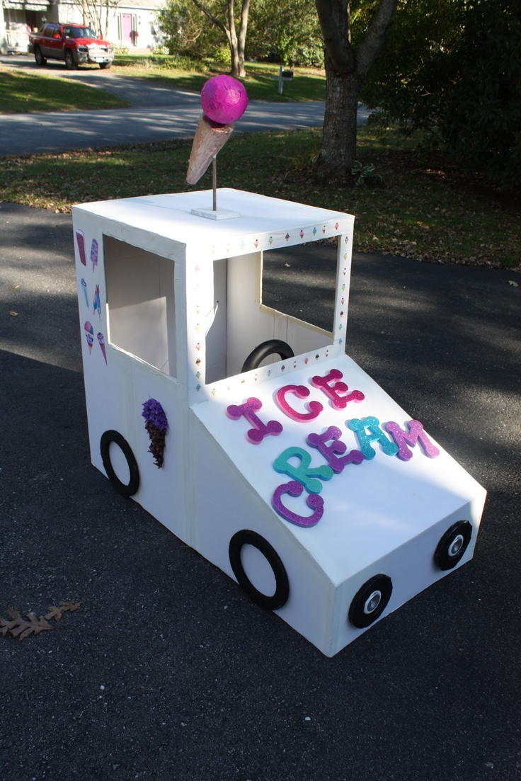 DIY Halloween Costume Ice Cream Truck