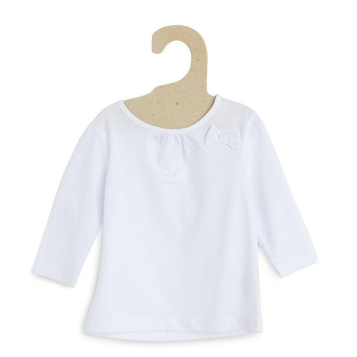 Tee-shirt coton manches longues Bébé fille - Kiabi - 3,00€