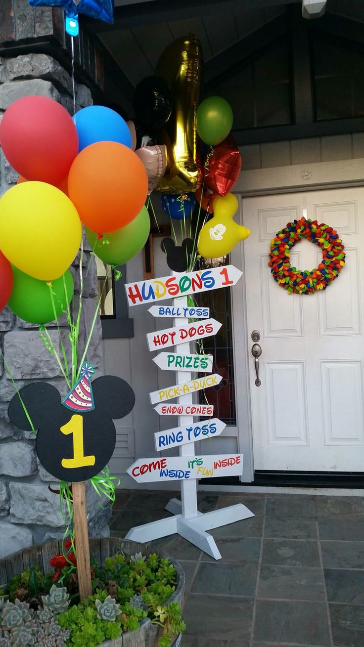 Mickey Mouse Clubhouse Party Entry Way