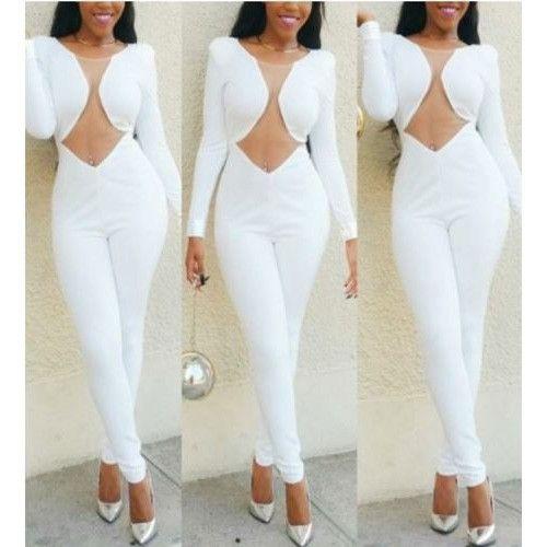 17 Best ideas about White Long Sleeve Jumpsuit on Pinterest ...
