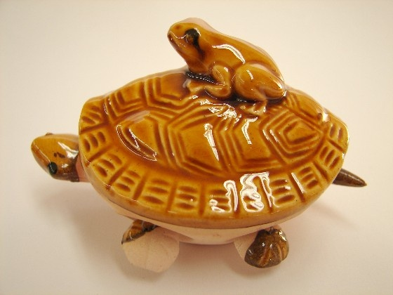 Brown Money Toad Turtle Figurines