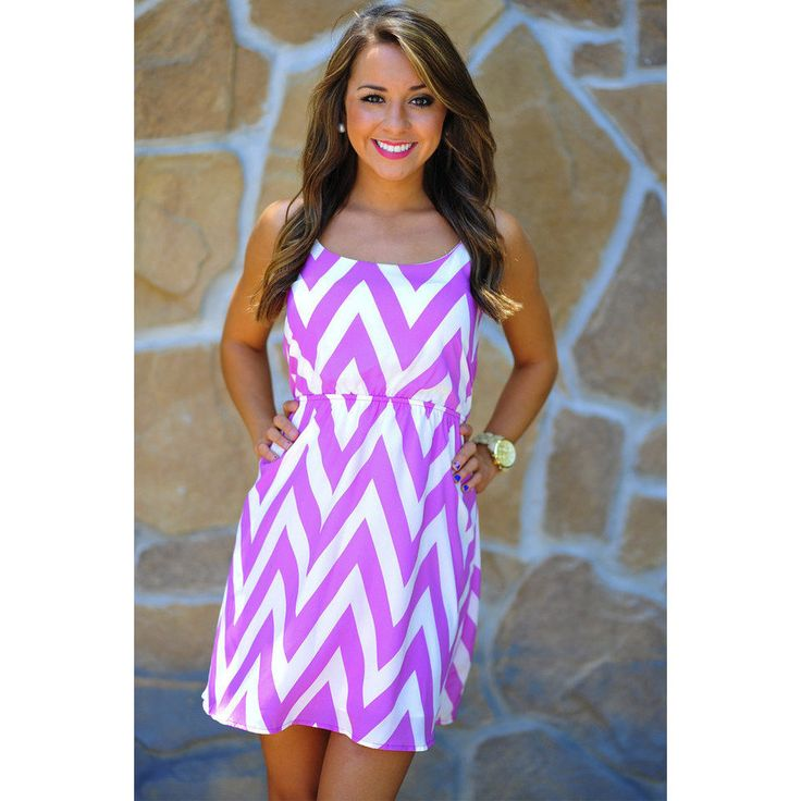 This would look great with boots for the Alumnae Dinner.    Joy For Chevron Sun Dress: Orchid | Hopes ($41.99)