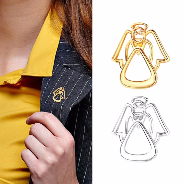 Collare Brooches Pin Cute Angel Design For Clothes Bag Hat Gold/Silver Color Broches For Women Men Jewelry Wholesale B210-in Brooches from Jewelry & Accessories on Aliexpress.com | Alibaba Group