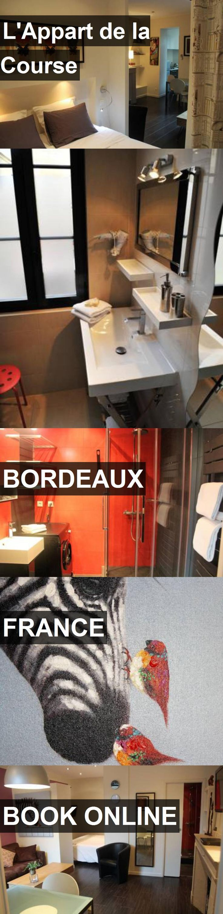 Hotel L'Appart de la Course in Bordeaux, France. For more information, photos, reviews and best prices please follow the link. #France #Bordeaux #travel #vacation #hotel