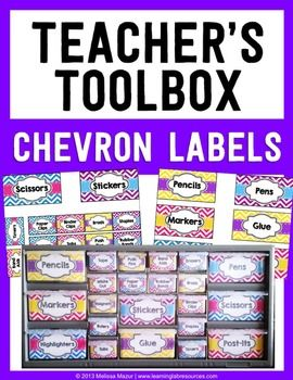 This file contains 22 Labels that you can use to create a Teacher's Toolbox. For a tutorial on how to make this Teacher's Toolbox, visit my blog:Teacher's Toolbox Tutorial The labels are in a PowerPoint document.  To edit, place a text box over each label.