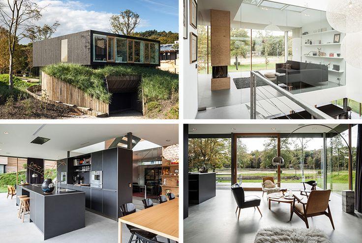 Stunning Home with Preserved Dune Landscape of Villa V in The Netherlands   Home Design Lover