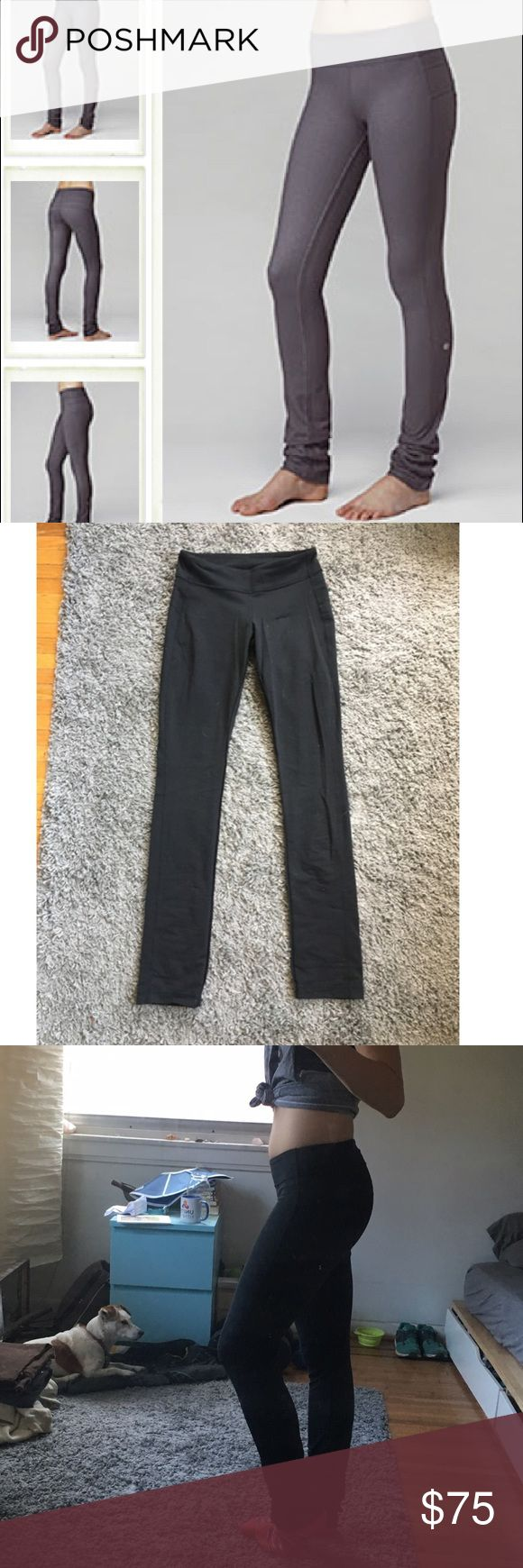 BLACK lululemon Energize Pant Black (first photo is a stock photo, it's hard to photograph black pants!) lululemon Energize Pants. Straight Leg & Long. Super comfy and flattering- your legs look miles long & they're great butt pants ;) Like new! Pocket on back. lululemon athletica Pants Leggings