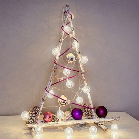 Konstsmide 3176-103 Aluminium Ball LED Christmas Lights