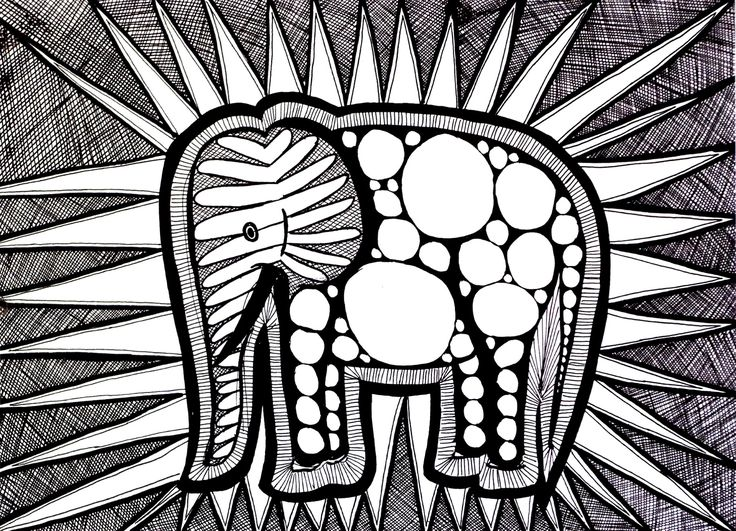 398 best coloring pages images on Pinterest Art ideas, Art - best of complex elephant coloring pages