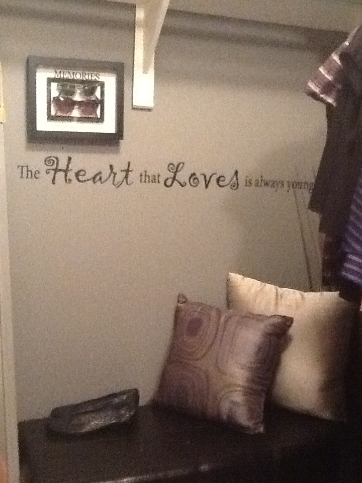 Bench in my closet!