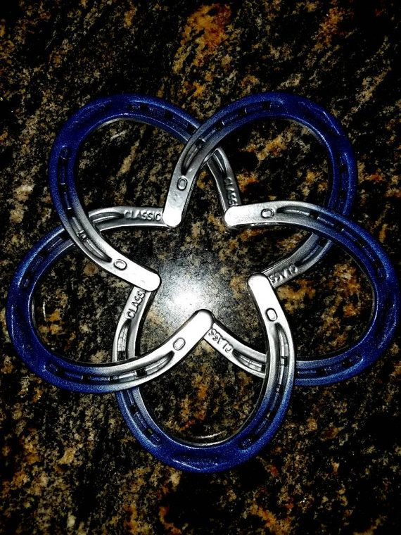 Check out this item in my Etsy shop https://www.etsy.com/listing/489810097/dallas-cowboys-type-star-in-horseshoes