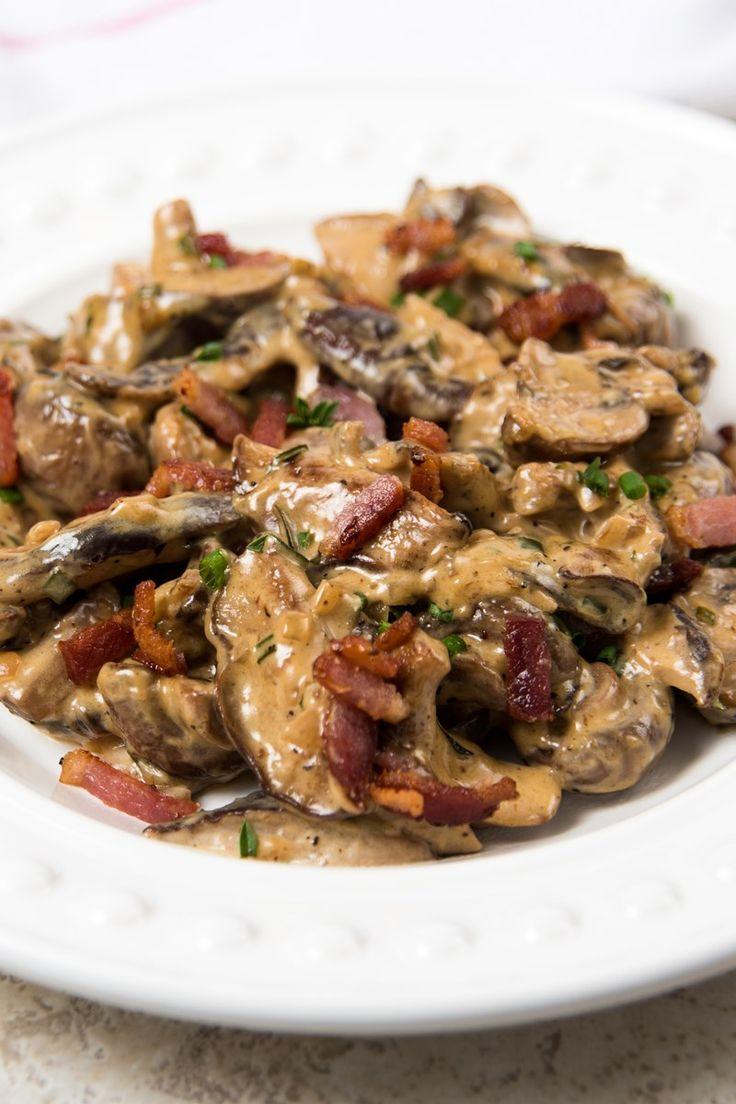Creamy Mushrooms with Bacon, Marsala, and Parmesan Recipe
