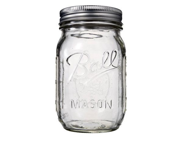 Ball Mason Pint Regular Mouth Jar With Lid #limetreekids