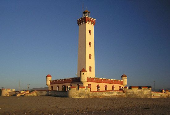 Lighthouse in La Serena, Chile.