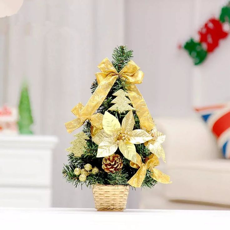 Hot Sale 35cm Golden Bow Decoration Small Christmas Tree Office And House Desk Decoration Artificial Christmas Tree Newest Christmas Decorations Old World Christmas Ornaments From Jettle, $68.94| Dhgate.Com