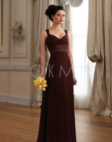 Beach Sleeveless Empire waist Bridesmaid Dress with Sash