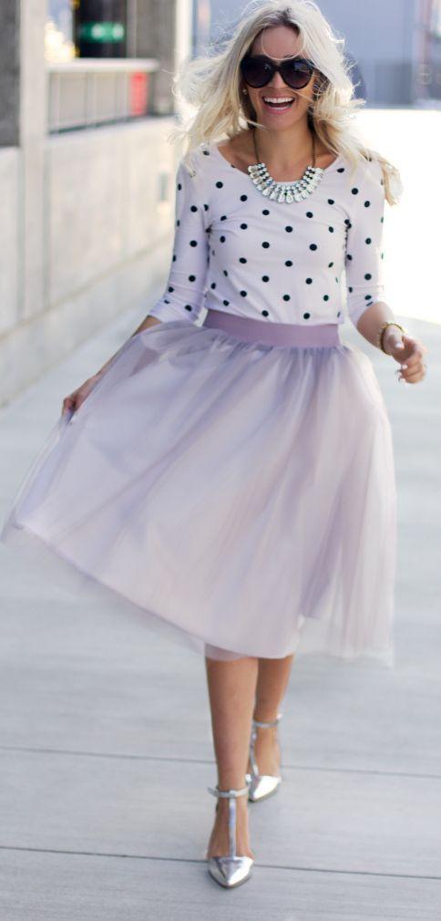 Lavander Tulle Skirt