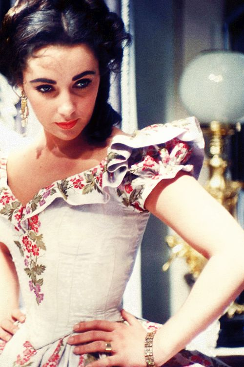 Elizabeth Taylor in Raintree County (1957)...her hoop skirt is now in the FoH archives.