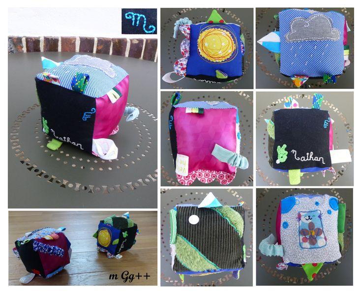 cube d 39 veil pour un cadeau de naissance d 39 apr s le tuto. Black Bedroom Furniture Sets. Home Design Ideas