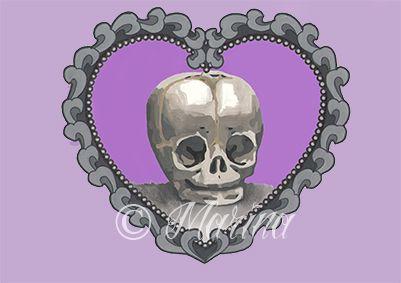 Baby skull flash tattoo