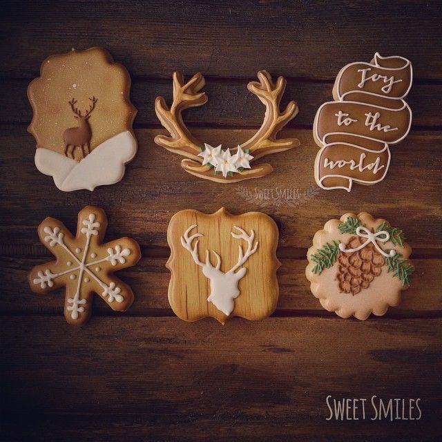 Christmas at the Cabin Cookies: Deer, antlers, pine cones...