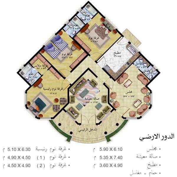 خرائط منازل شرقية أحدث التصاميم الهندسية اسقاط فلل حديثة فيلات بأشكال راقي مخططات ممي منتدى النرجس Square House Plans Model House Plan House Layout Plans