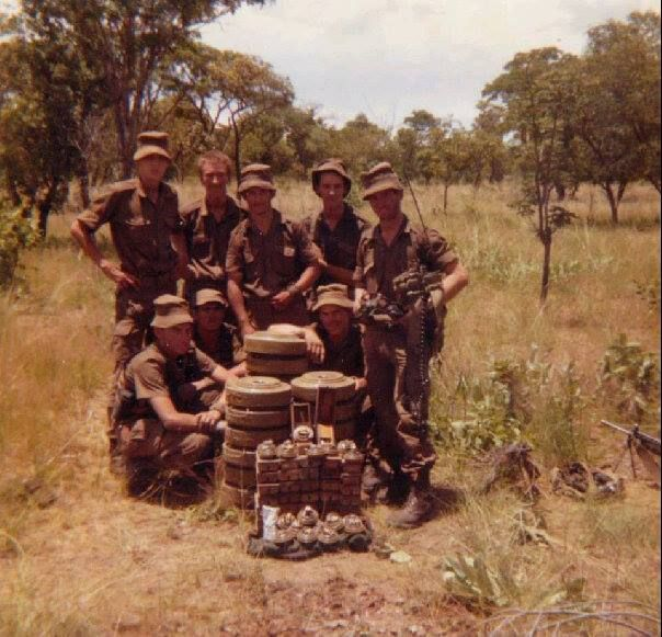 Sappers with Tm- 57 Anti- tank mines Ops Askari