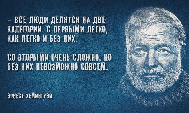 30мудрых цитат Эрнеста Хемингуэя