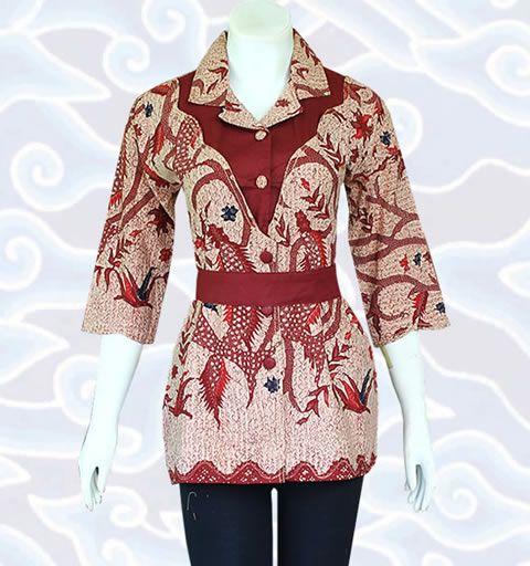 blouse batik BM127 di http://senandung.net/blus-batik-wanita-modern/