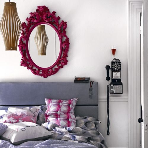 Grey   Magenta colour scheme  The coolest part is the old phone. Best 25  Magenta bedrooms ideas on Pinterest   Jewel tone living