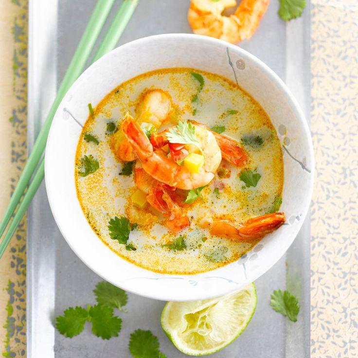 Découvrez la recette de la soupe thaï aux crevettes