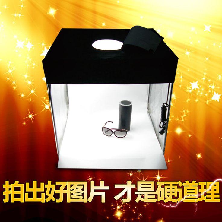 Фото light box фото стрелять Фото коробки Led Небольшой Студии Комплект простой Мини-Камера Коробка Ювелирных Изделий Микро Мягкий Световой Короб Оборудования cd50