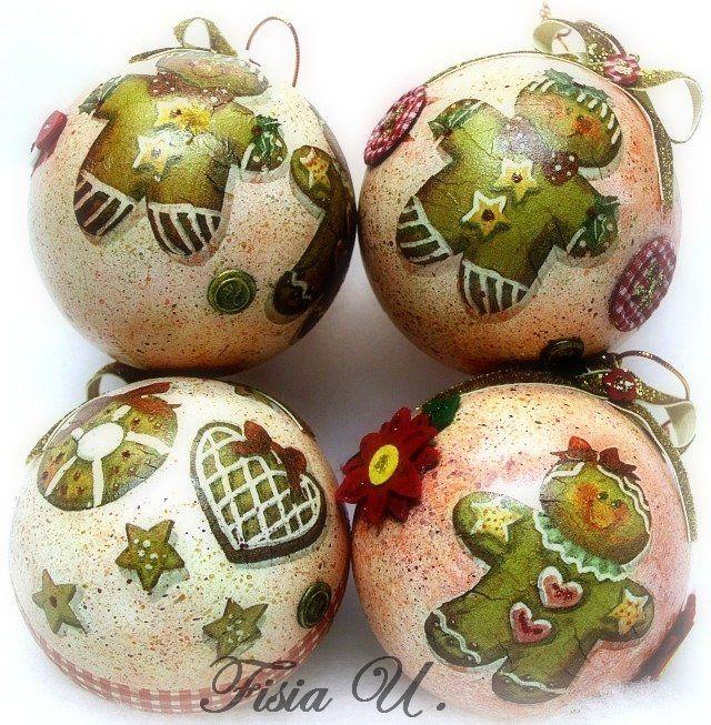 Palline di Natale fatte a mano, con biscottini natalizi, by Le Creazioni di Fi, 28,00 € su misshobby.com