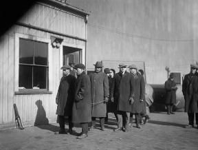 Detention of immigrants in Boston during the Red Scare, contributing to Sacco-Vanzetti Case.