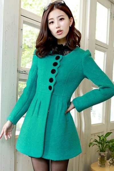 Faux Fur Collar Single-breasted Coat  #ShopSimple