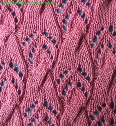 Comet knitting stitches ......... this is lovely ~ the lace combined with the 'almost' cable effect