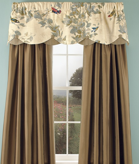 Frilled Kitchen Curtains Lined: Aviary By Country Curtains