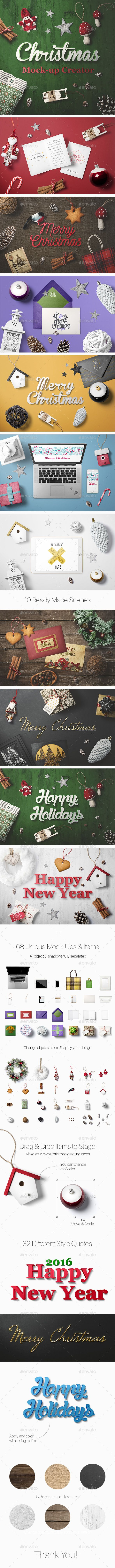 Christmas Mock-Up Creator #design Download: http://graphicriver.net/item/christmas-mockup-creator/13664788?ref=ksioks