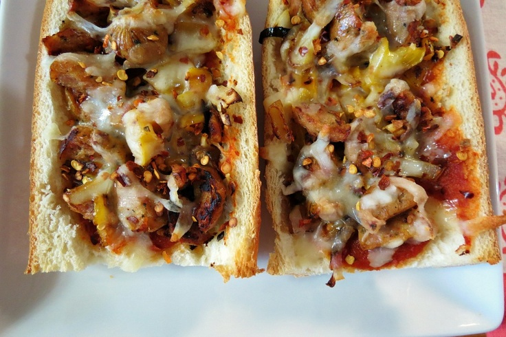 Emeril's French Bread Pizza from Peanut Butter and Peppers