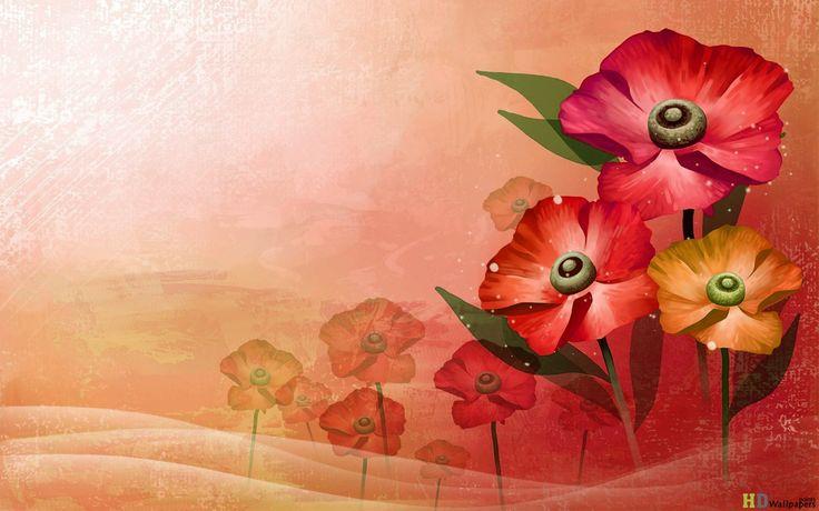 Duvar kağıdı 3D Çiçek HD Ücretsiz
