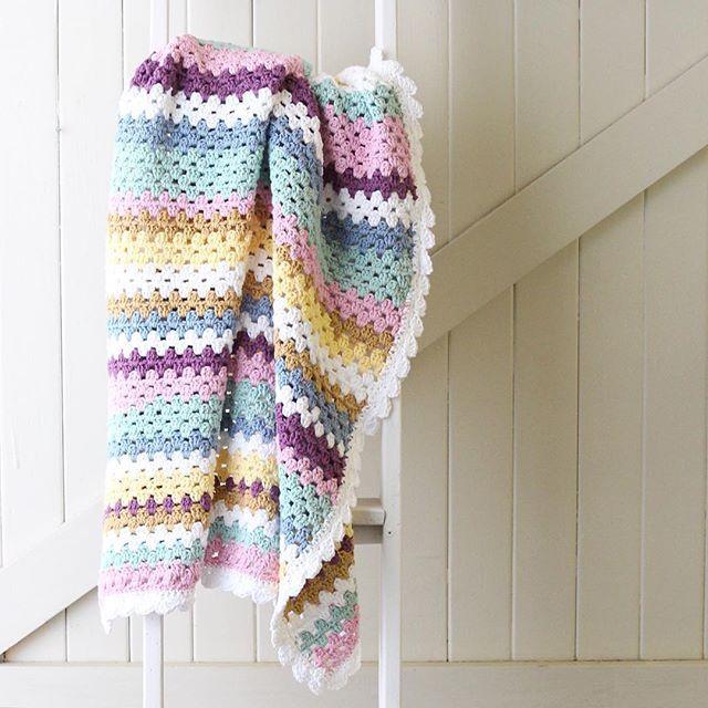 Crochet Pattern For Granny Stripe Baby Blanket : 25+ best ideas about Granny stripe blanket on Pinterest ...